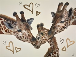 Lockdown Love by Hayley Goodhead - Original Painting on Box Canvas sized 40x30 inches. Available from Whitewall Galleries